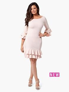 jessica-wright-riya-ruffle-shift-dress