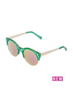river-island-green-crystal-pink-mirror-sunglasses