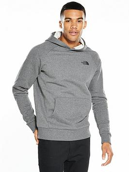 Photo of The north face raglan red box back logo hoodie
