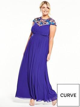 little-mistress-curve-little-mistress-curve-multi-colour-trim-maxi-dress