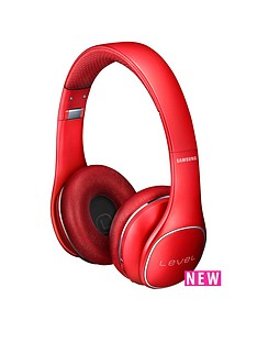 samsung-stylish-level-on-wireless-bluetooth-on-ear-headphones-red