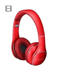 samsung-stylish-level-on-wireless-bluetooth-on-ear-headphones-red
