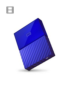 Western Digital My Passport 4TB Portable External Hard Drive - Blue