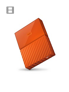 Western Digital My Passport 4TB Portable External Hard Drive - Orange