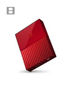 Western Digital My Passport 4TB Portable External Hard Drive - Red