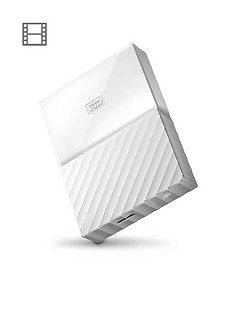 Western Digital My Passport 4TB Portable External Hard Drive - White