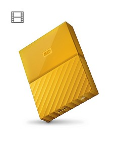 Western Digital My Passport 4TB Portable External Hard Drive - Yellow