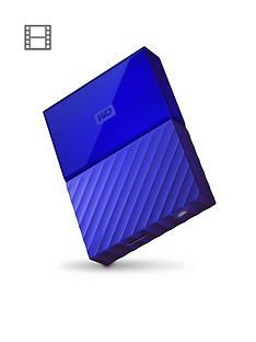 Western Digital My Passport 2TB Portable External Hard Drive - Blue