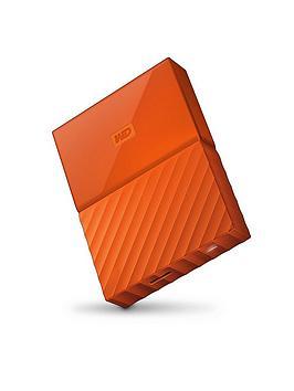 Western Digital My Passport 1Tb Portable External Hard Drive - Orange
