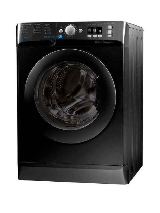Indesit Innex Bwa81683xk 8kg Load 1600 Spin Washing Machine Black