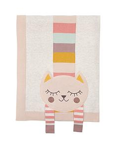 mamas-papas-knitted-blanket--3d-cat