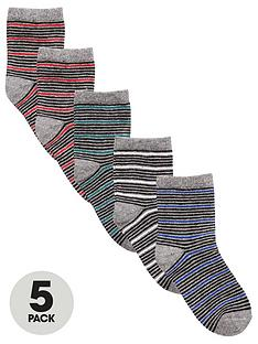 v-by-very-boys-thin-stripe-socks-5-pack