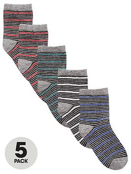v-by-very-boys-thin-stripe-socks-5-pack