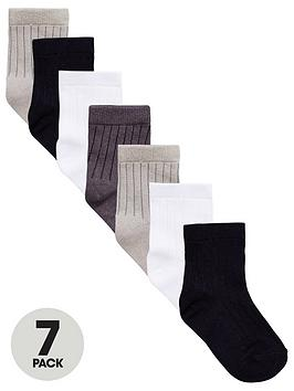 v-by-very-boys-core-socks-7-pack