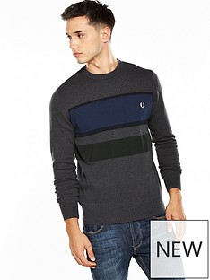 fred-perry-colour-block-jumper