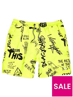 river-island-boys-yellow-graffiti-print-swim-shorts