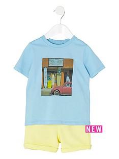 river-island-mini-boys-blue-t-shirt-and-shorts-set