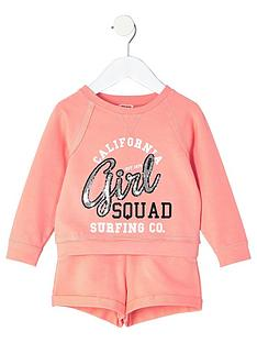 river-island-mini-girls-coral-print-sweatshirt-and-shorts-outfit