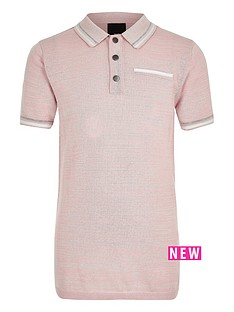 river-island-boys-pink-tipped-smart-polo-shirt
