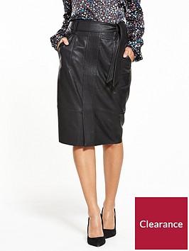 boss-beslauny-pu-skirt-black