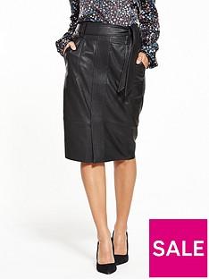 boss-orange-beslauny-pu-skirt-black