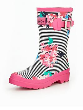 joules-girls-pink-stripe-floral-welly