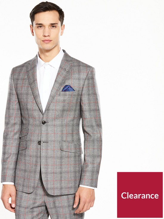 d26c6c6951eafb Ted Baker Ted Baker Sterling Prince Of Wales Check Suit Jacket very.co.uk  ...