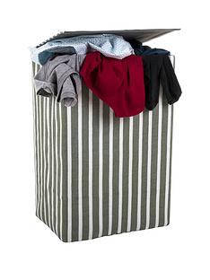 minky-canvas-laundry-hamper-grey-stripe