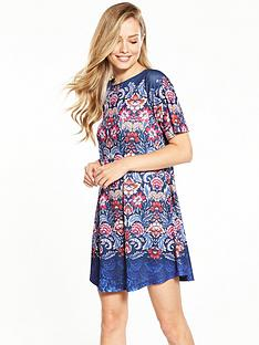 v-by-very-short-sleeve-swing-dress