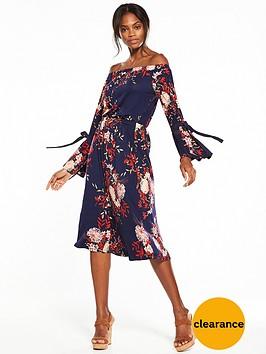 v-by-very-bardot-midi-dress