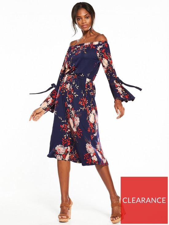 V by Very Bardot Midi Dress  04e4e148ee6a