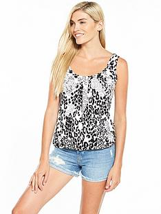 v-by-very-fold-centre-vest-animal-print