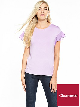 v-by-very-woven-sleeve-frill-t-shirt