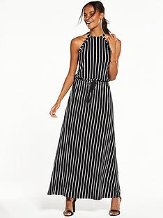 v-by-very-halter-neck-maxi-dress-monochrome-stripe
