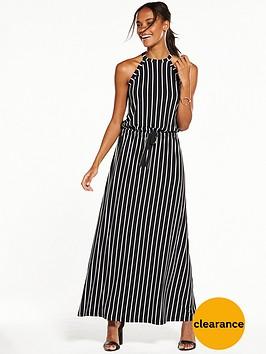 v-by-very-halter-neck-maxi-dress-monochrome-stripe