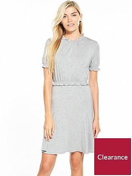 v-by-very-sheered-godet-tea-dress-grey