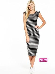 v-by-very-ruffle-stripe-rib-midi-dress-stripe
