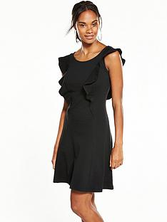 v-by-very-frill-ponte-dress-black