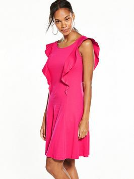 v-by-very-frill-dress-hot-pink