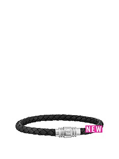 police-police-mens-black-leather-weave-magnetic-bracelet