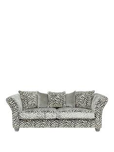 luxenbspcollection--nbspvelvetine-3-seaternbspfabric-sofa