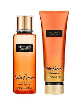 victorias-secret-amber-romance-250ml-fragrance-mist-236ml-body-lotion-pack
