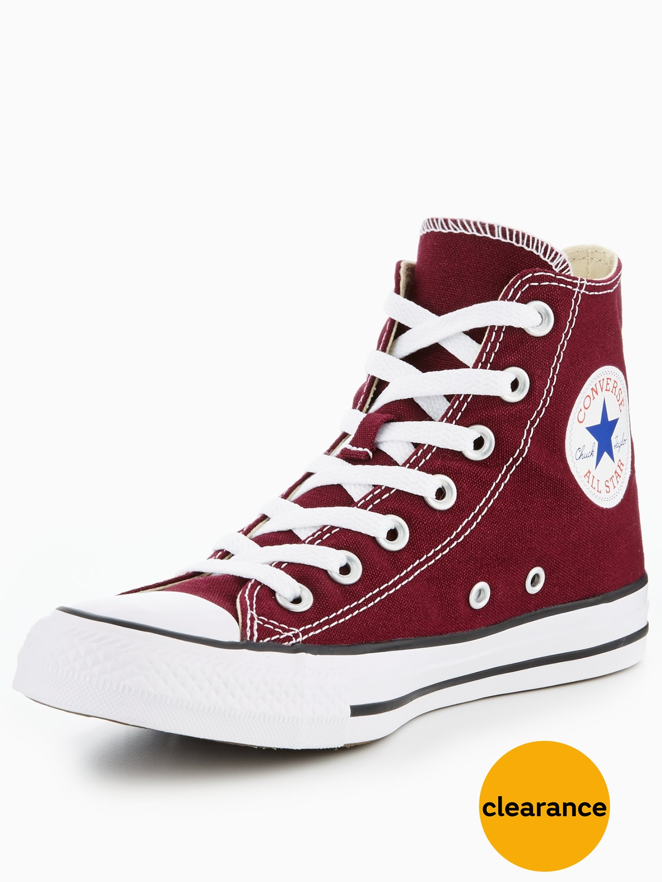 Converse Chuck Taylor All Star Hi Tops Burgundy 1600162057 Women's Shoes Converse Trainers