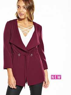 v-by-very-draw-string-drape-jacket