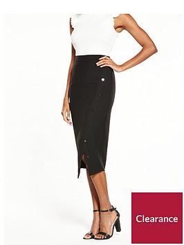 v-by-very-the-button-midi-skirt-black