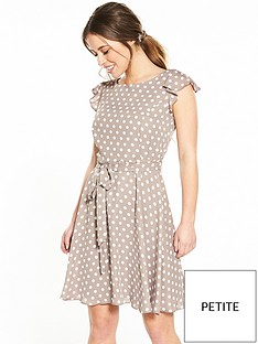 wallis-petite-spot-fit-and-flare-dress