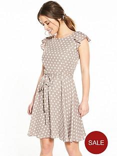 wallis-petite-spot-fit-and-flare-dress