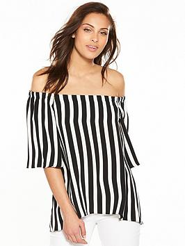 wallis-nautical-stripe-bardot-top