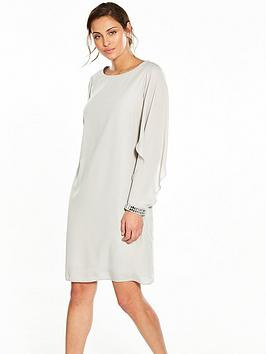 wallis-open-float-sleeve-shift-dress
