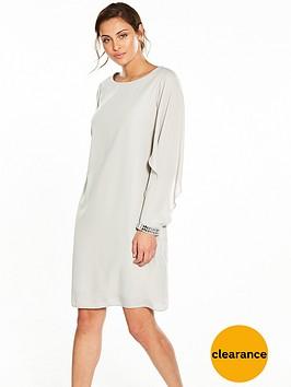 wallis-open-float-sleeve-shift-dress